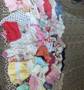 Пакет вещей для девочки с рождения до 6 месяцев