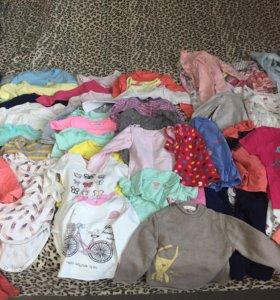 Пакет вещей для девочки от 6 месяцев до 1-1,5