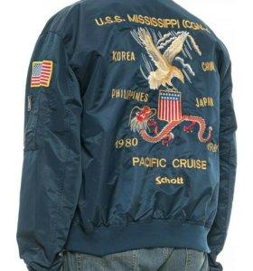 Schott NYC куртка бомбер пилот новая L