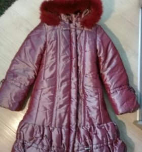 Пальто зимнее на девочку 134