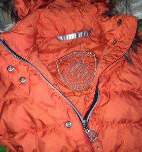 Пуховая зимняя куртка poivre blank 2-3 года