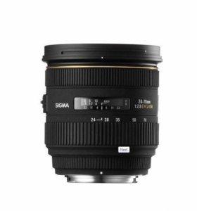 Объектив Sigma AF 24-70mm f/2.8 IF EX DG Canon EF