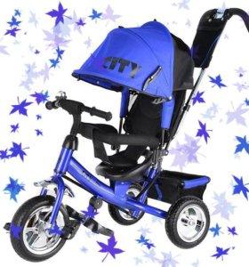 Велосипед детский трехколесный ПВХ колеса