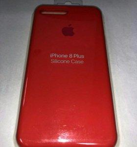 Силиконовые чехлы для iPhone 8 plus новые