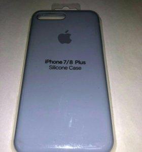 Силиконовые чехлы на iPhone 7/8 plus новые