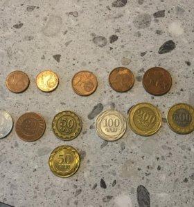Монеты Грузии и евро
