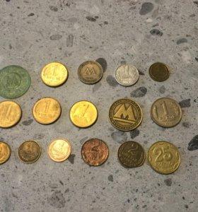 Жетоны метро монеты