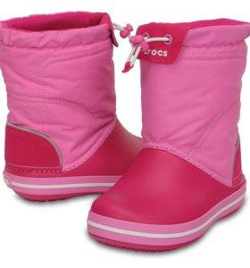 НОВЫЕ сапоги CROCS Kids' Crocband LodgePoint Boot