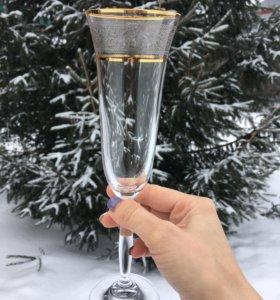 Бокалы для шампанского bohemia crystalite