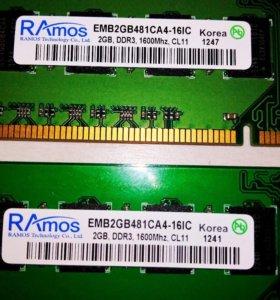 Оперативная память две по 2 ГБ, возможен торг