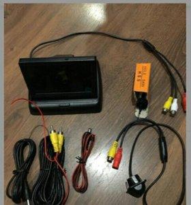4.3 дюймов складной монитор и камера заднего вид