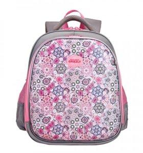 Новый Рюкзак школьный для девочки Grizzly
