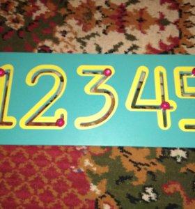 Бизиборд цифры