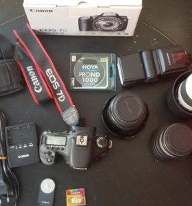 Canon 7d + 5 объективов