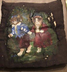 Старинная подушка , живопись
