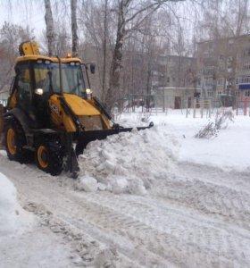 Чистка и уборка снега трактором Раменское