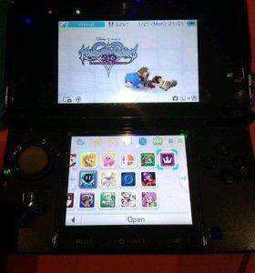 Nintendo 3ds + 32 gb + Luma 3ds + r4 + 18 игр