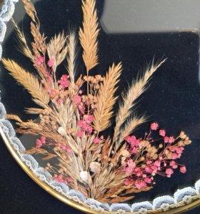 Старинный гербарий за стеклом подвесная картина