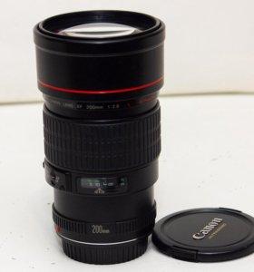 Canon 200mm 2.8L USM Резкий светосильный фикс на 5