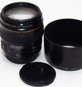 Резкий светлый портретник Canon 100mm 2.0 +бленда