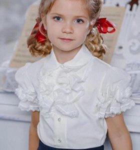 Шикарная школьная блузка Duwalli 146 (140) новая