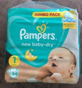 Подгузники Pampers new baby-dry 94 шт.