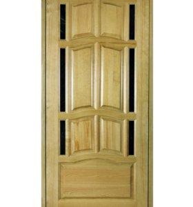 Дверь межкомнатная. Цвет светлый дуб