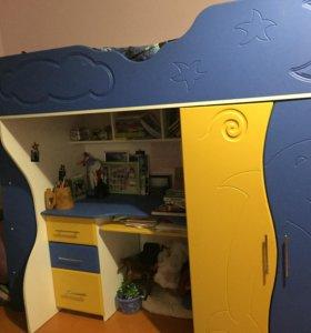 Детский модуль (кровать,стол,шкаф)