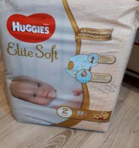 Подгузники Haggies elite soft 2