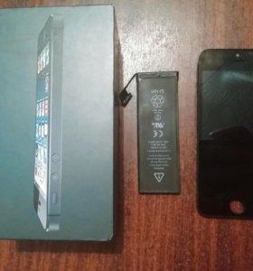 Дисплей и аккумулятор на айфон 5