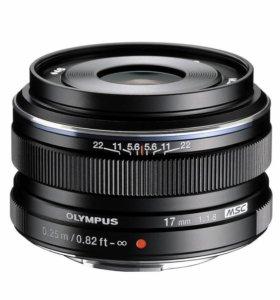 Olympus M.Zuiko Digital 17mm f/1.8 новый