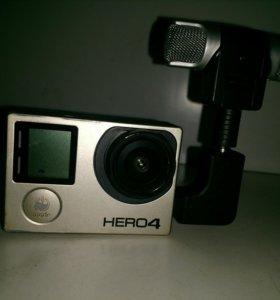 Экшен камера goopro hero 4 blek
