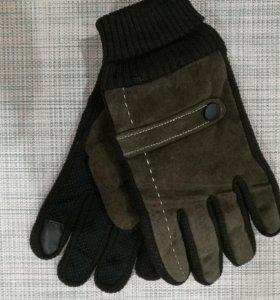 Перчатки зимние. Новые