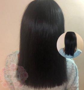 Наращивание волос 200 прядей