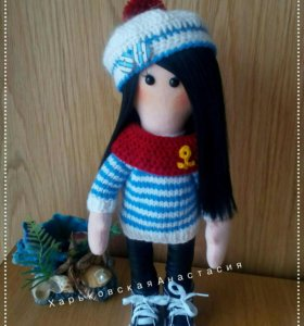 Текстильная кукла Морячка Лизавета.