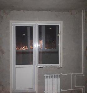 Балконый блок 2х камерный стеклопакет