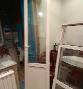 Межкомнатный оконный блок на балкон