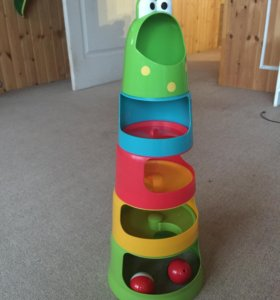 Пирамидка игрушка лягушка