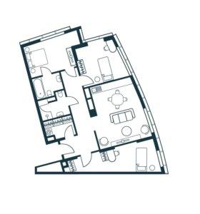 Квартира, 4 комнаты, 89.1 м²