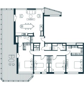 Квартира, 5 и более комнат, 172.7 м²