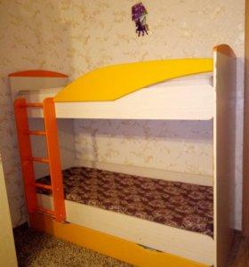 Кровать двыхъярусная