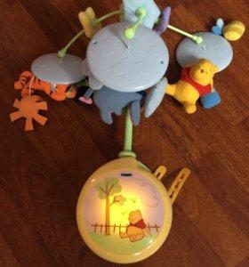 Мобиль карусель ночник игрушка Винни