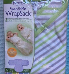 Пеленка на липучке WrapSack L флисовая новая