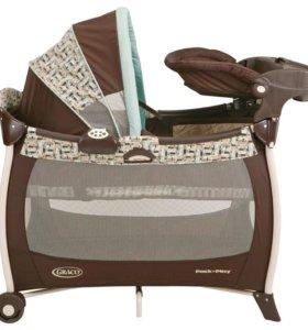 Кровать-манеж Грако для путешествий с малышом