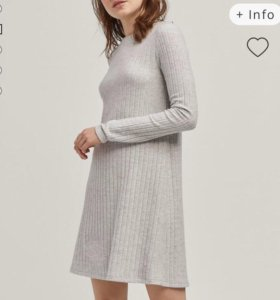 Трикотажное свободное платье stradivarius S