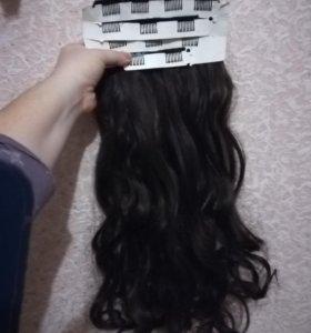 Волосы, на заколках