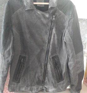 Джинсовая комбинированная курточка