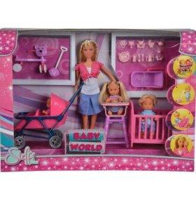 Кукла Штеффи с детьми Simba, 5736350.
