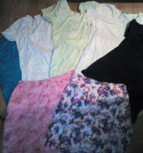 4 футболки и 2 юбки р.42