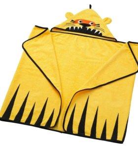 Детское махровые полотенца с капюшоном